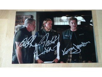 3st sons of anarchy autografer +coa