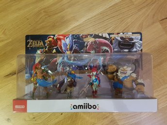Nintendo Amiibo. Zelda Breath Of The Wild - Champions. 4-pack. Ny!