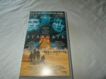 Stargate VHS PAL science fiction film Svensk text action rymden aliens