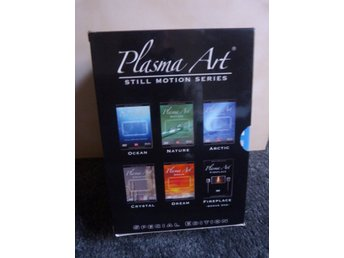 Plasma Art DVD Set 6 Olika i BOX Artic - Fire place - Nature - Ocean - Crystal -