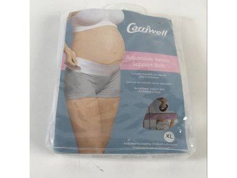 Carriwell, Bälte, Strl: XL, Adjustable Velcro Support Belt, Vit