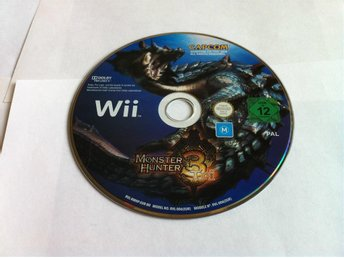 Wii: Monster Hunter Tri/3 (Enbart skivan)