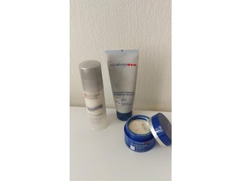 Clarins for Men, Biotherm Homme, cream, rengöring, peeling, afterhave, anti-age