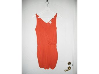 Byxdress, orange, H&M, hm, jumpsuit, kort, linne, shorts, XS