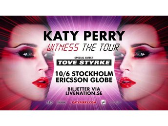 Två ståplatser KATY PERRY : THE WITNESS TOUR GLOBEN