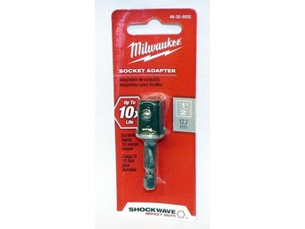 "Milwaukee 48325032 Shockwave Socket Adapter-1/4 ""HEX TO 1/2"""