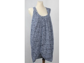 ACNE AYITA PATCH KLÄNNING DRESS PAISLEY PRINT LÖS ÄRMLÖS 40 / L NY