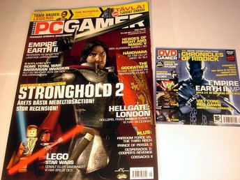 PC GAMER  Nr101 HELT NY m DVD  MAJ 2005   STRONGHOLD 2 mm.