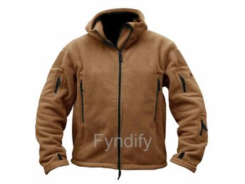 Fleecejacka Herr Military Outdoor Thermal  Brun Strlk L