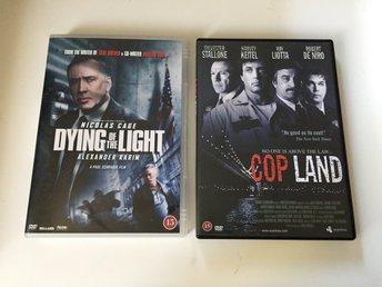 2x DVD filmer: Dying Of The Light Cop Land (Sylvester Stallone Robert De Niro) - Malmö - 2x DVD filmer: Dying Of The Light Cop Land (Sylvester Stallone Robert De Niro) - Malmö