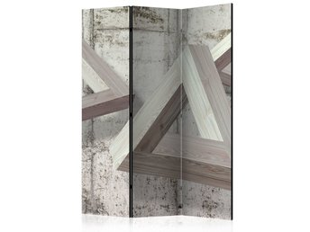 Rumsavdelare - Grey Trio Room Dividers 135x172