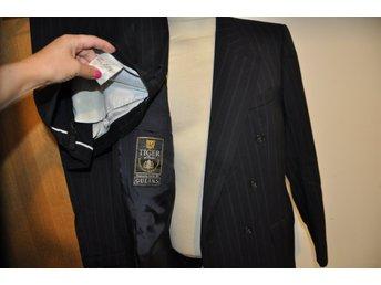 Ursnygg Blå TIGER Klassisk 100% ULL Kostym Kavaj+Byxa Höstfräscht Stl B 54 ae39b4abbc408