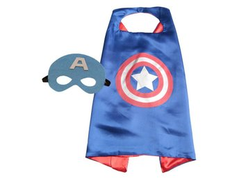 Mantel + Mask Tema Captain America - Fri frakt