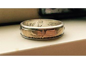 Andra världskriget Ring Flygvapnet guld signerad - Trollhättan - Andra världskriget Ring Flygvapnet guld signerad - Trollhättan
