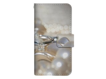 Samsung Galaxy S6 Edge Plånboksfodral Diamonds & Pearls