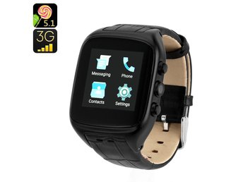 Android 5.1 3G Watch Phone - Android OS, IP65, 1.54 Inch Touch Screen, Dual-Core
