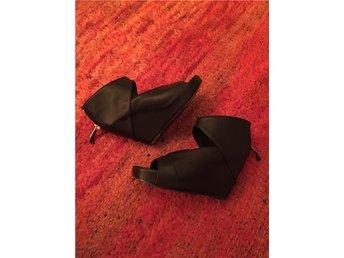 Rick Owens klassiska wedge-sandaler svart skinn 40 med original kartong - Malmö - Rick Owens klassiska wedge-sandaler svart skinn 40 med original kartong - Malmö