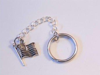 USA flagga nyckelring / USA flag keyring - Skelleftea - USA flagga nyckelring / USA flag keyring - Skelleftea