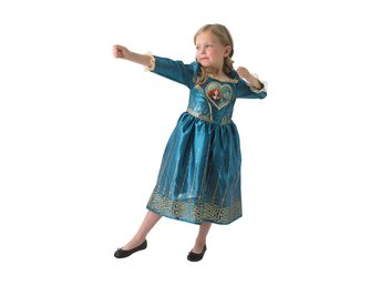 MERIDA 122/128 cl (7-8 år) klänning Disney Princess prinsessa Modig