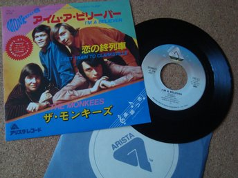 The Monkees En Japan Pressad Singel 1966 I´m A Believer Återutgåva Från 1981