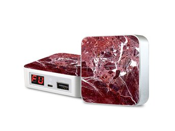 Portabel laddare - iPhone & Android - Red Amarant Marble