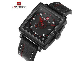 Klocka Herr Naviforce Watches Men Brand black red