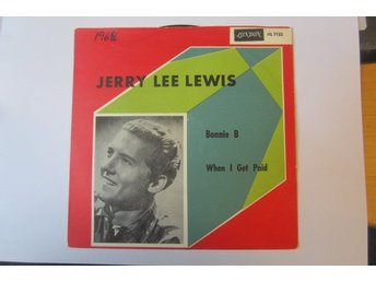 "Jerry Lee Lewis singelomslag ""Bonnie B / When I  Get Paid"" 1963"