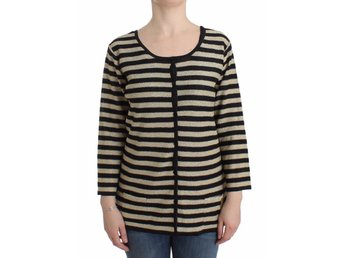 Gold striped twinset top EU Size: XL