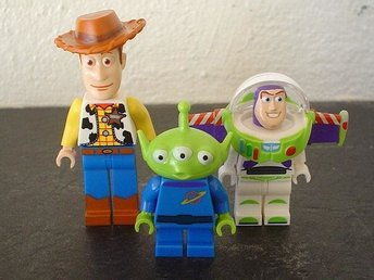 3st Toy Story  figurer - Woody, Alien & Buzz Lightyear