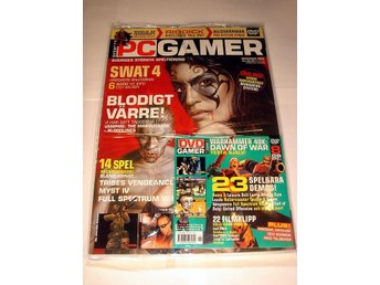 PC GAMER 95 NY m DVD  NOV 2004  SWAT 4  mm. I ORIGINALPLAST