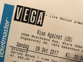 Rise Against Köpenhamn 29 oktober 2017