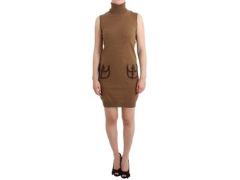 Galliano - Brown knitted wool dress