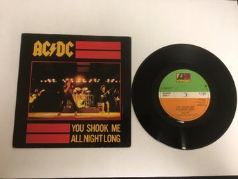 AC/DC / YOU SHOOK ME ALL NIGHT LONG / HAVE A DRINK ON ME / VINYL SINGEL / 1980
