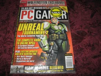 PC GAMER FEBRUARI 2002 (UNREAL TOURNAMENT 2) SPEL DEMO RETURN TO CASTLE WOLFENST