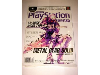 PLAYSTATION 14 NY CD 2/1999 METAL GEAR SOLID I ORIGINALPLAST