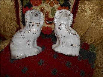 Hund figurin Engelska par hundar retro - Halmstad - Hund figurin Engelska par hundar retro - Halmstad