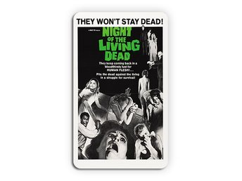 Night Of The Living Dead 1968 Magnet Kylskåpsmagnet