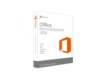 Microsoft Office 2016 Home and Business Sve/Eng