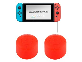 Silikonknappar Nintendo Switch - Röd 2Pack