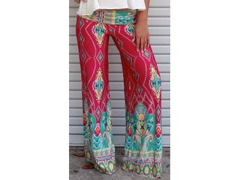 Leggings Raka Ben 60-70 tal Retro Vintage Mönster Hippie L 40