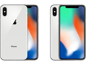 Apple iPhone X 256GB, silver, RIMLIGT SKICK