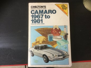 1 st begagnad Chilton`s repair & tune up guide camaro 1967 to 1981 Rephandbok,