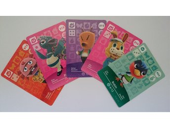 Animal Crossing Amiibo Cards series 4 Nr 312, 313, 315, 316, 400