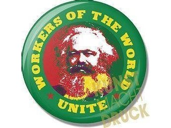 KARL MARX - 2,5 cm - Badge/ Pin /Knapp- (Socialism, Revolution, Engels,)