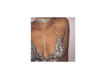 Drop Down silver choker