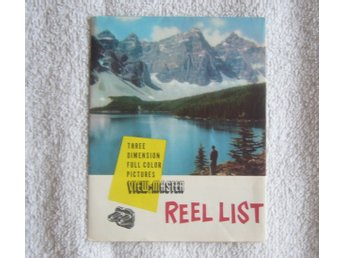 View Master Reel List från september 1953