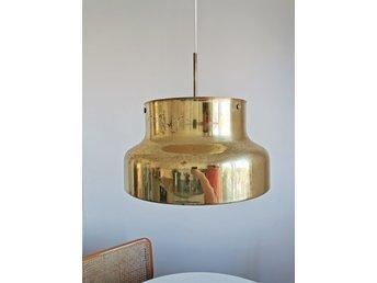 BUMLING taklampa, Ateljé Lyktan, 40 cm, mässing, med raster