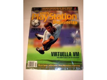 PLAYSTATION Mag 6  NY  CD  6/1998  TEKKEN 3  I ORIGINALPLAST
