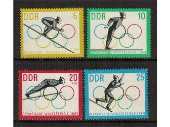 DDR Vinter OS i Innsbruck 4v.kpl/** 1963 - Nybro - DDR Vinter OS i Innsbruck 4v.kpl/** 1963 - Nybro