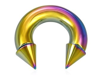 Rainbow Circular Barbell 8 mm